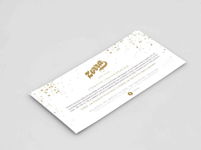 Convite Zorra Impressão porto